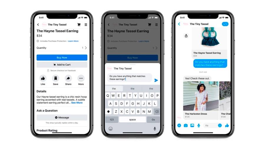 As ferramentas para lojas permitem conectar páginas de vendas com o Messenger