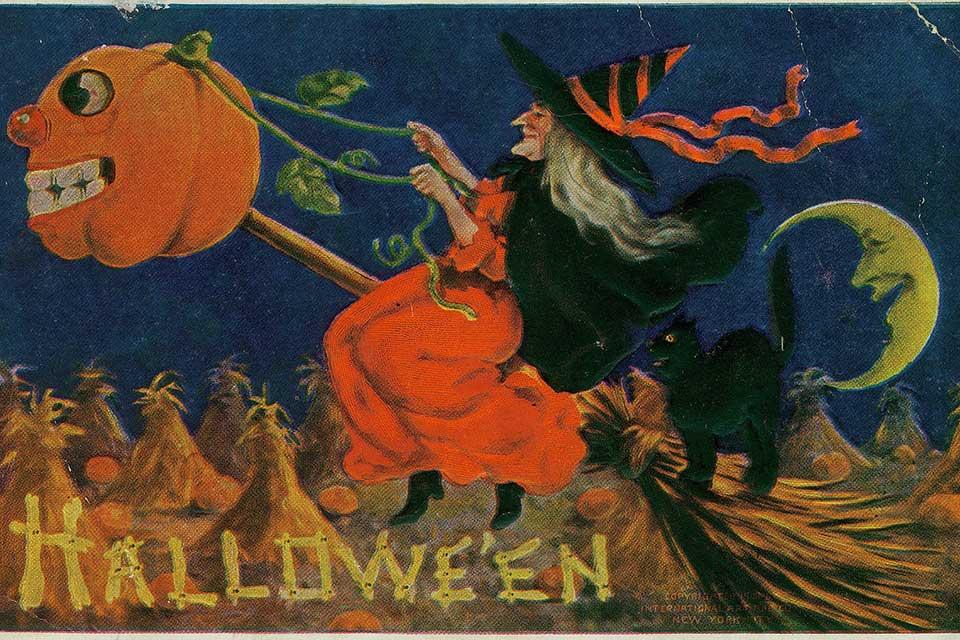 O imaginário das bruxas remonta ao uso de plantas medicinais. (Fonte: Wikimedia Commons)