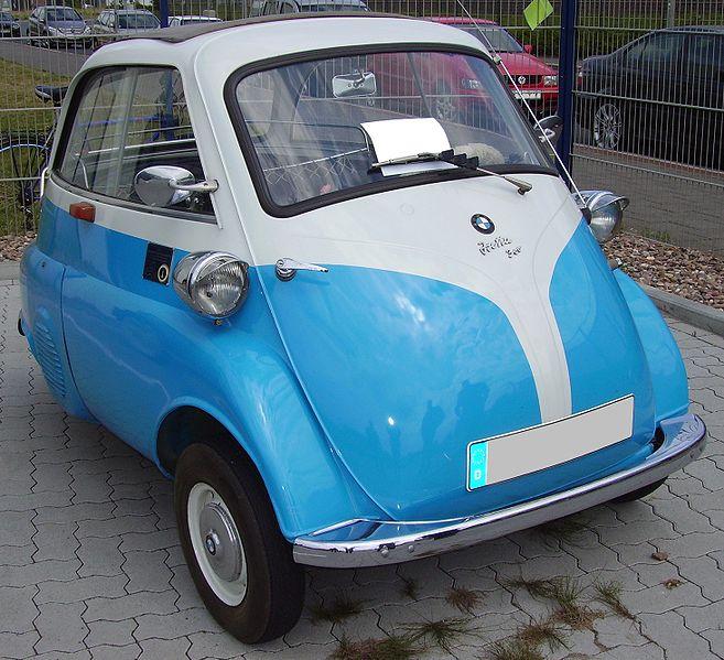 O pequeno Isetta em sua versão BMW (Fonte: Wikimedia Commons/Reprodução)