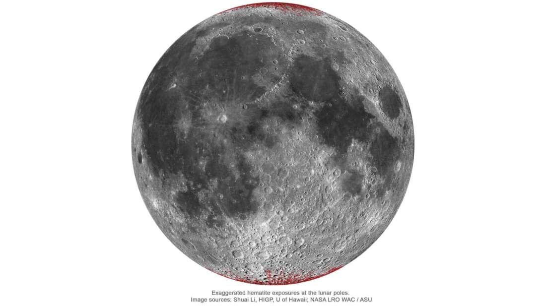 Localização dos depósitos. (Fonte: NASA, Shuai Li via IFLScience/Reprodução)