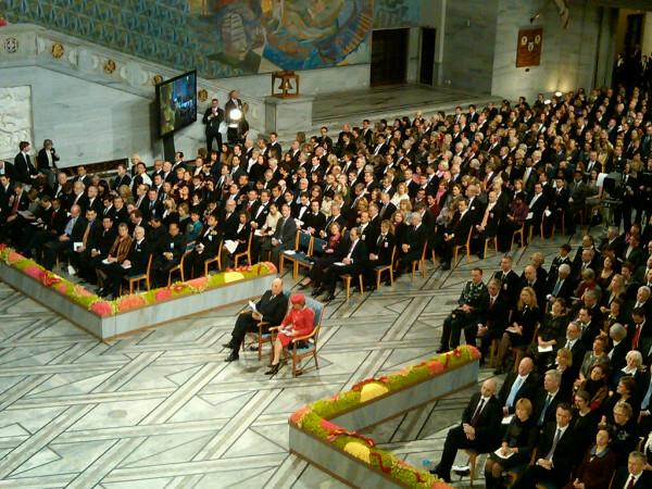 Cerimônia do Prêmio Nobel em 2010. (Fonte: Wikimedia Commons)