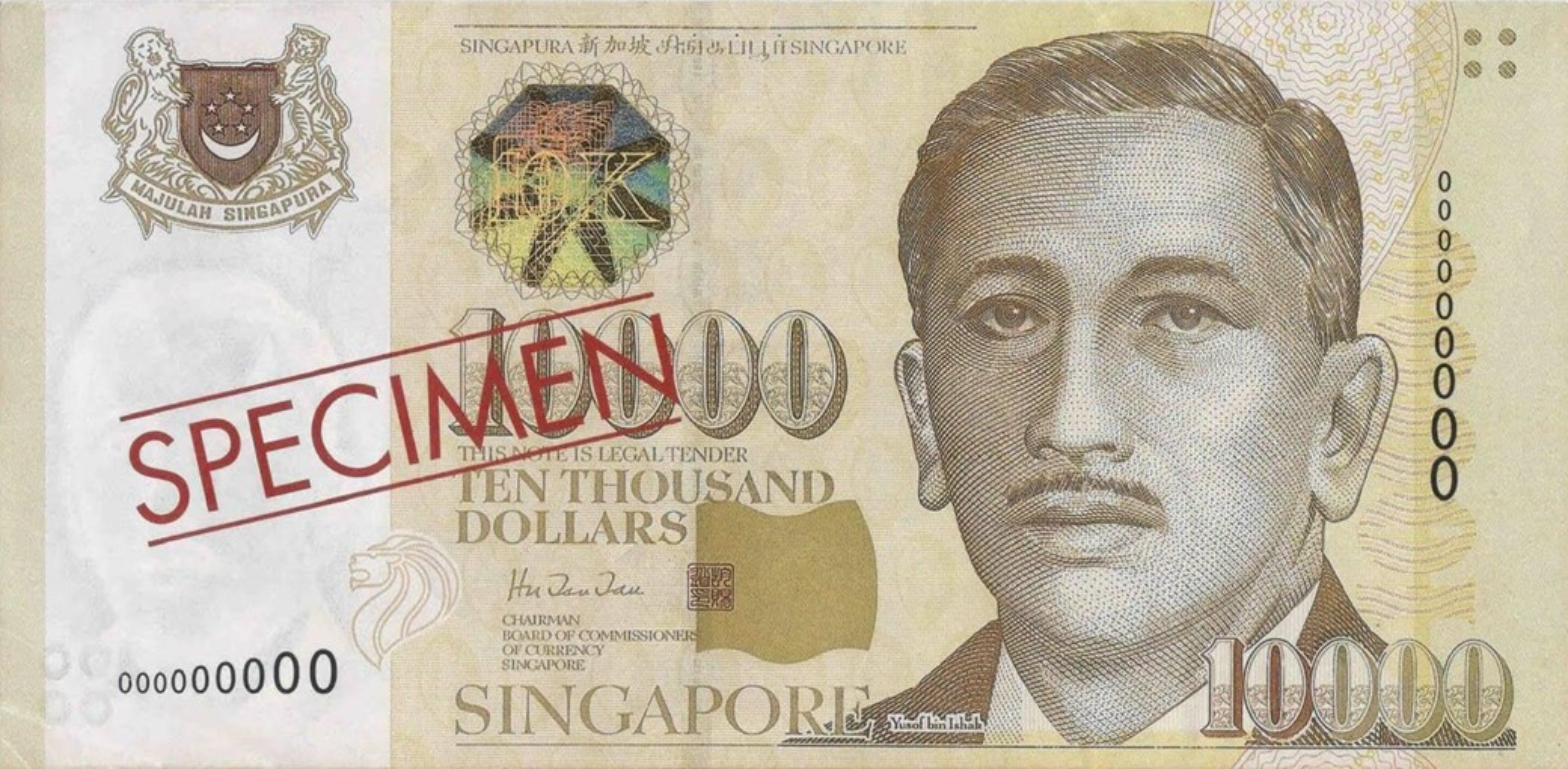 Se você achar uma dessas, está rico: 10 mil dólares singapurenses valem cerca de R$ 40 mil. (Fonte: InfoMoney/Reprodução)