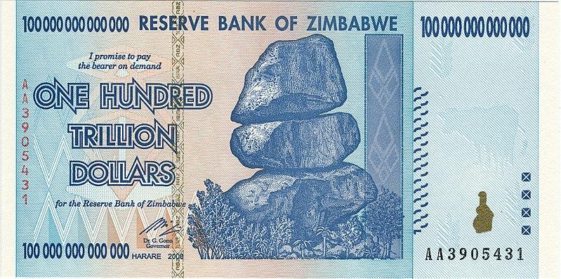 100 trilhões de dinheiros que só serviam de adubo (Fonte: Wikimedia Commons)