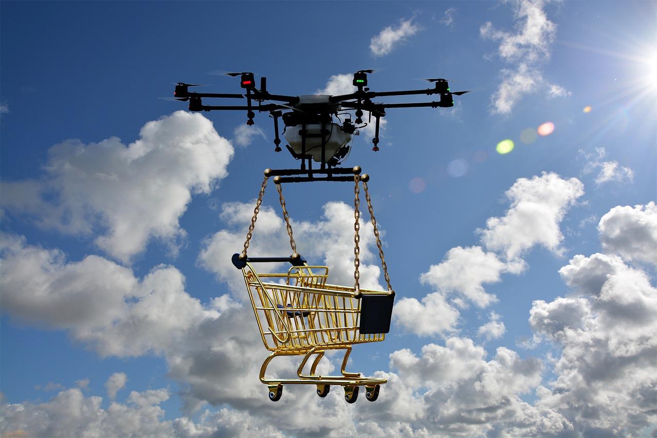 Entregas via drones começam a se tornar realidade.