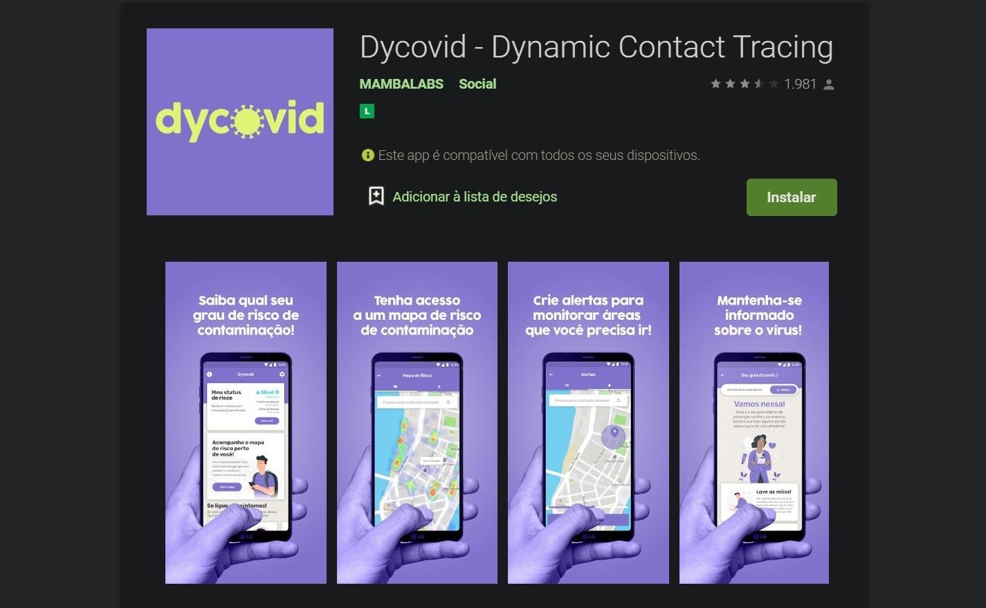 Dycovid pode prever contágio, mesmo antes de surgirem os sintomas.