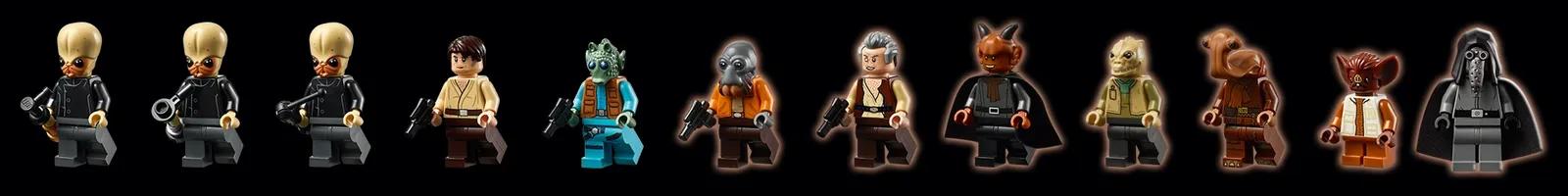 O conjunto inclui 21 minifigures dos personagens (Fonte: LEGO/Divulgação)