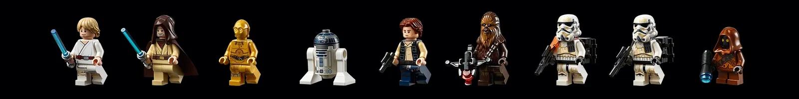 Incluindo Luke, Obi-Wan, Han, Chewie e os droids C3-PO e RD-D2 (Fonte: LEGO/Divulgação)