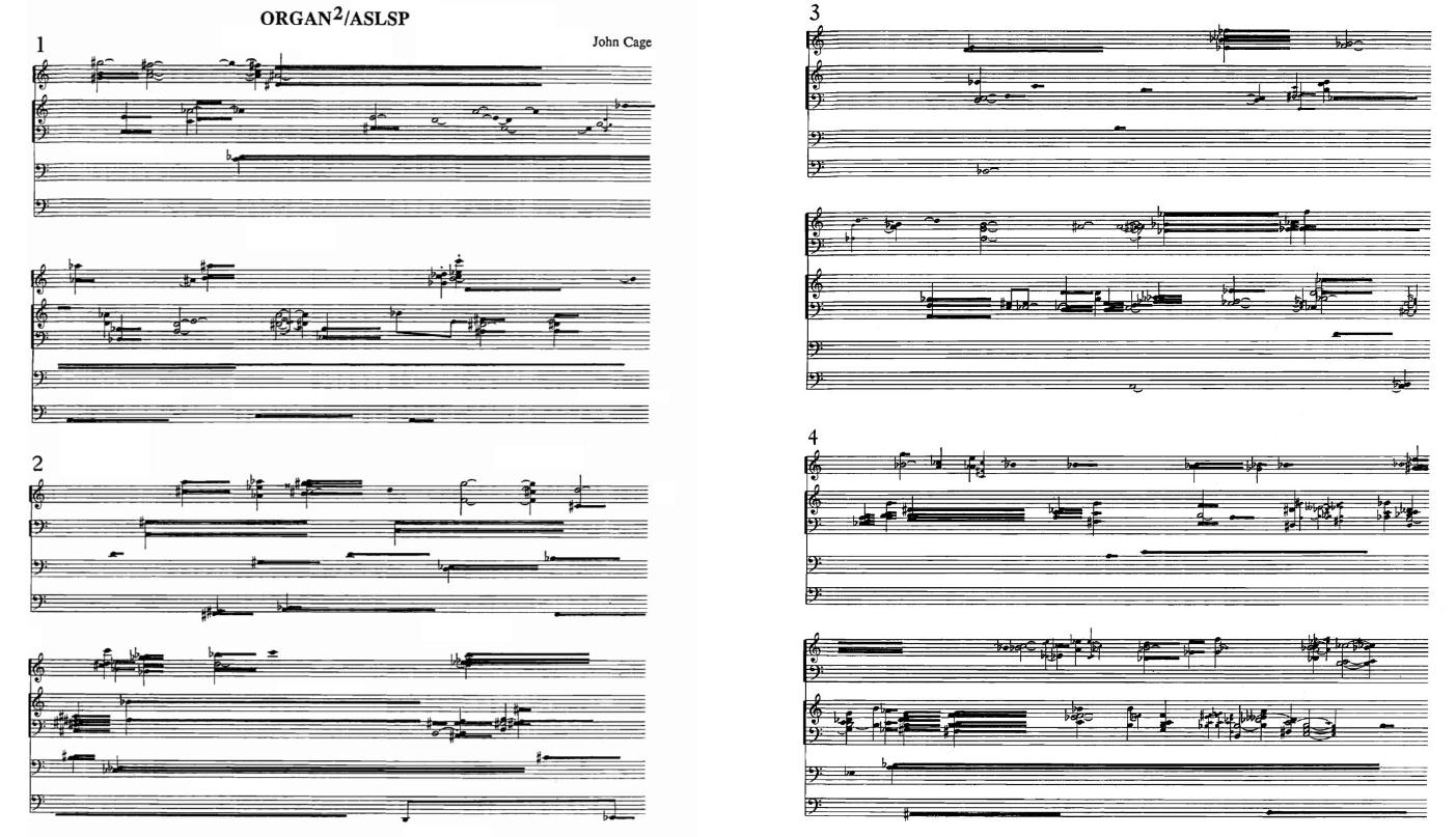 As partituras criadas por John Cage. (Fonte: Arte Sonora)