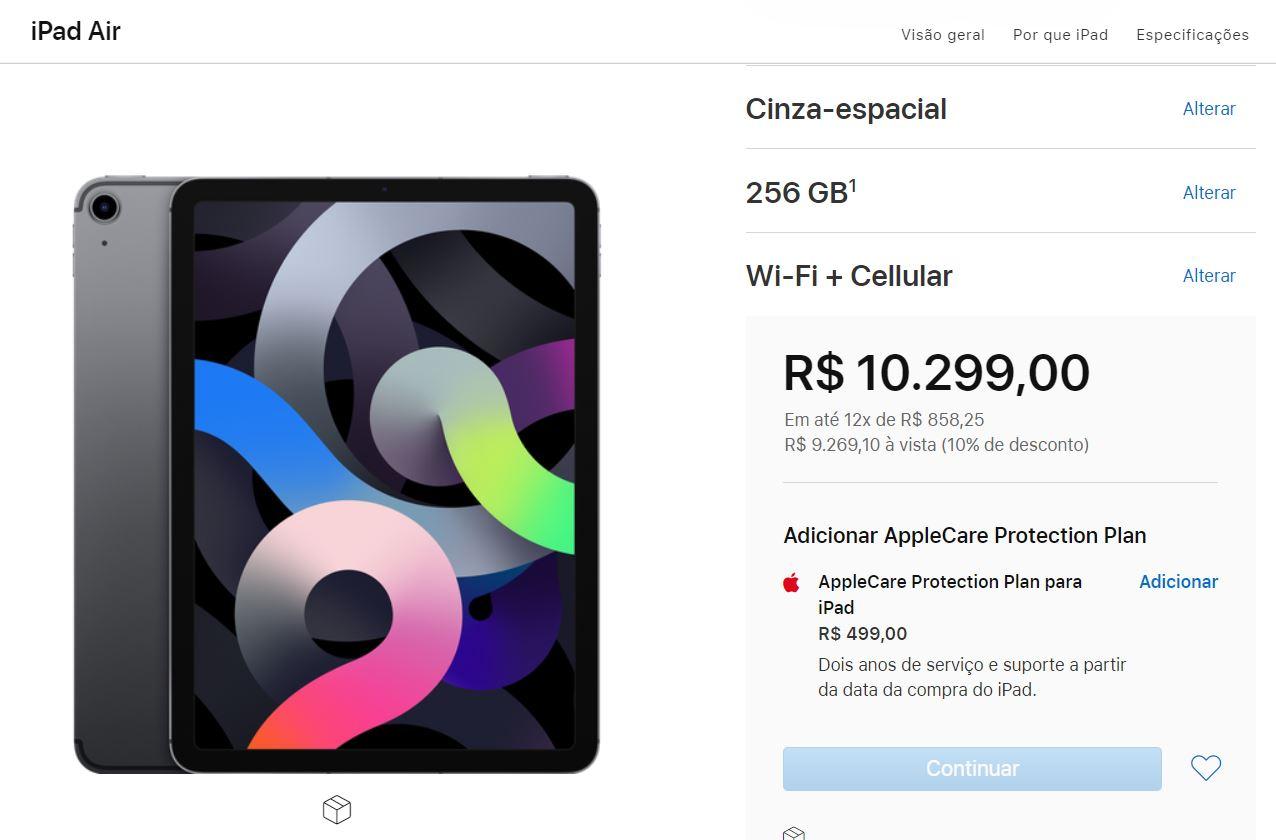 iPad Air novo