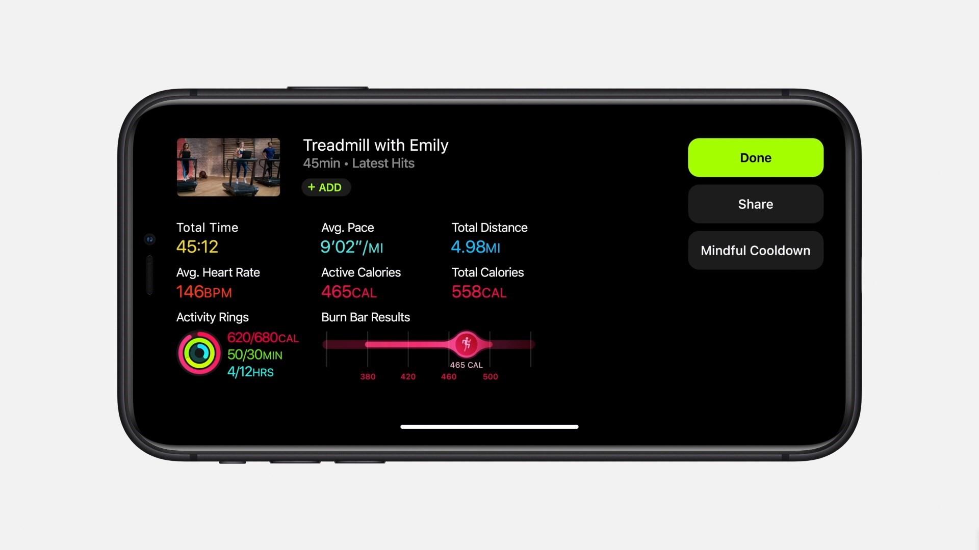 Interface do streaming no iPhone. (Fonte: Apple / Divulgação)