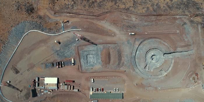 Área de construção do telescópio mais poderoso do mundo.