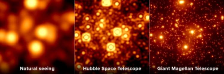 A qualidade de imagem do GMT será superior à fornecida pelo Hubble.