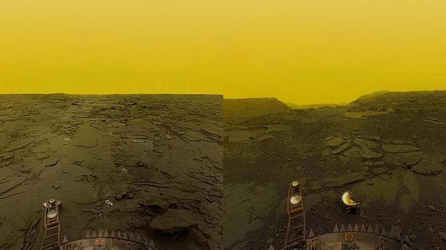 Images of the surface of Venus, taken by the probe Venera 14