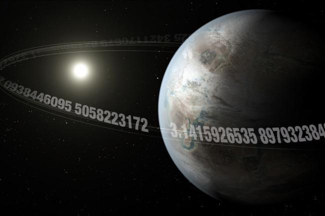 """O """"planeta pi"""" gasta 3,14 dias para completar uma órbita em torno da sua estrela."""