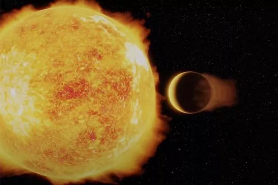 """Cientistas descobrem exoplaneta """"colado"""" à estrela natal"""