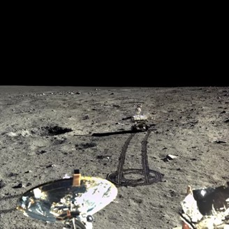 The little rover broke as it moved across the moon.
