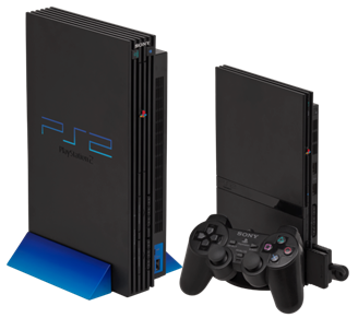 To resolve PS2 Fat disc read errors (left), Sony released the revised and improved PS2 Slim hardware (right)