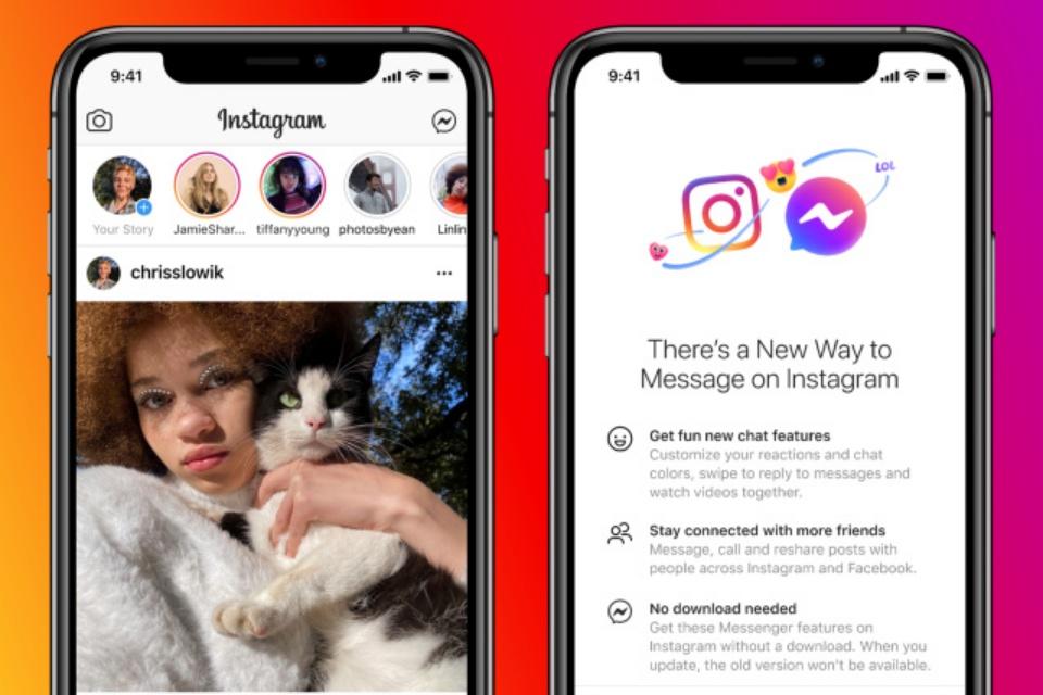 Facebook une chats do Messenger e Instagram