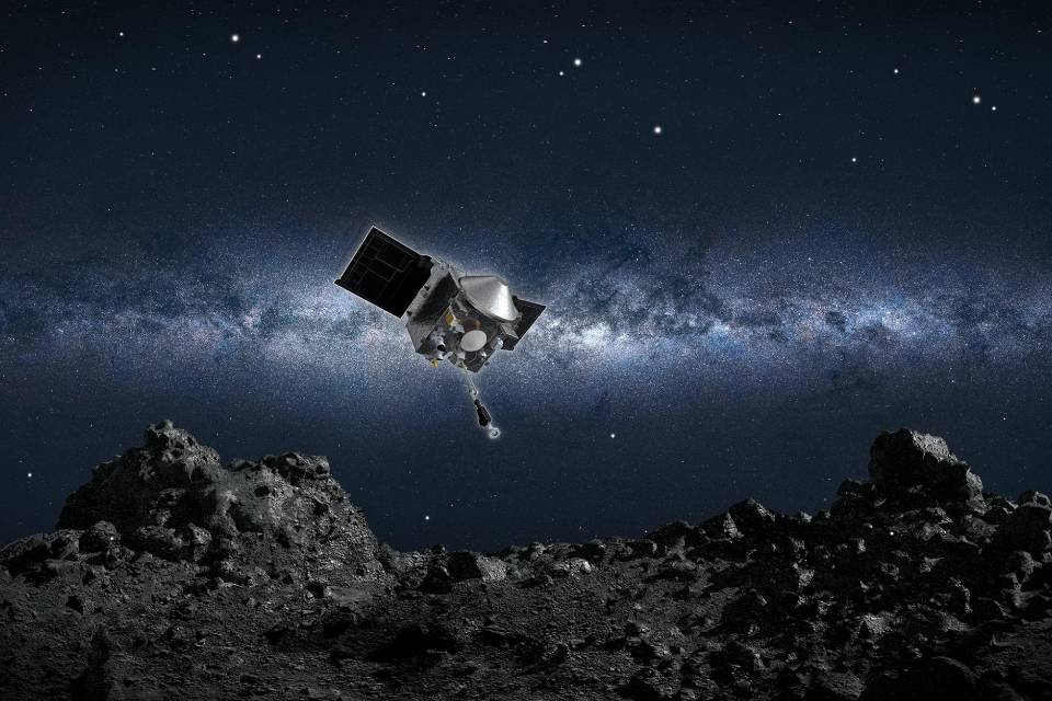 Bennu 'surrupiou' pedaços do asteroide Vesta e intriga cientistas