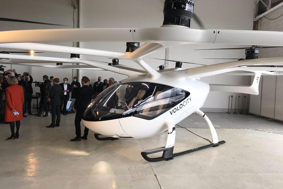 O táxi voador que será testado em Paris é o VoloCity