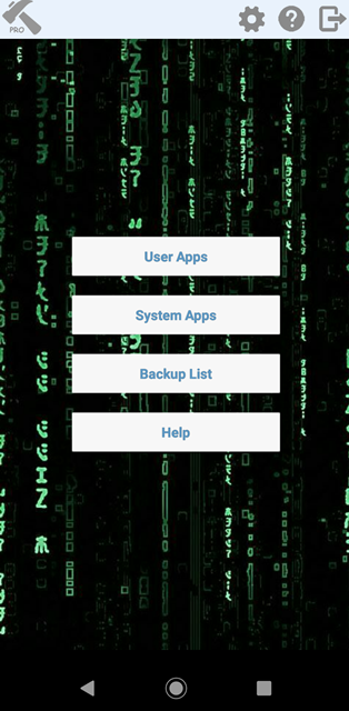 Tela inicial Hack app data Pro