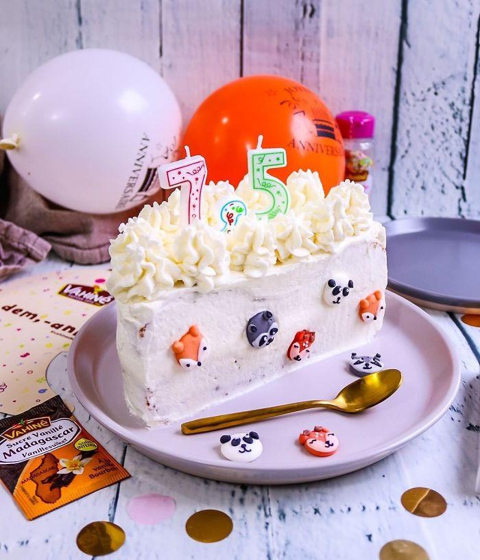 Meia vela, meio bolo (Fonte: Vahinedesserts/Reprodução)