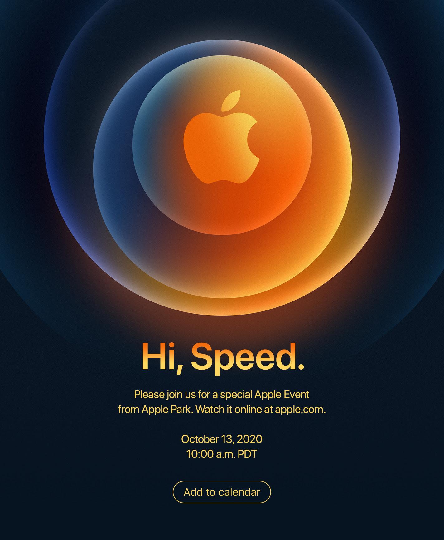 Convite do evento de lançamento dos celulares iPhone 12
