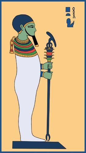 Ptá, deus dos artesãos e arquitetos. (Fonte: Pinterest/Reprodução)