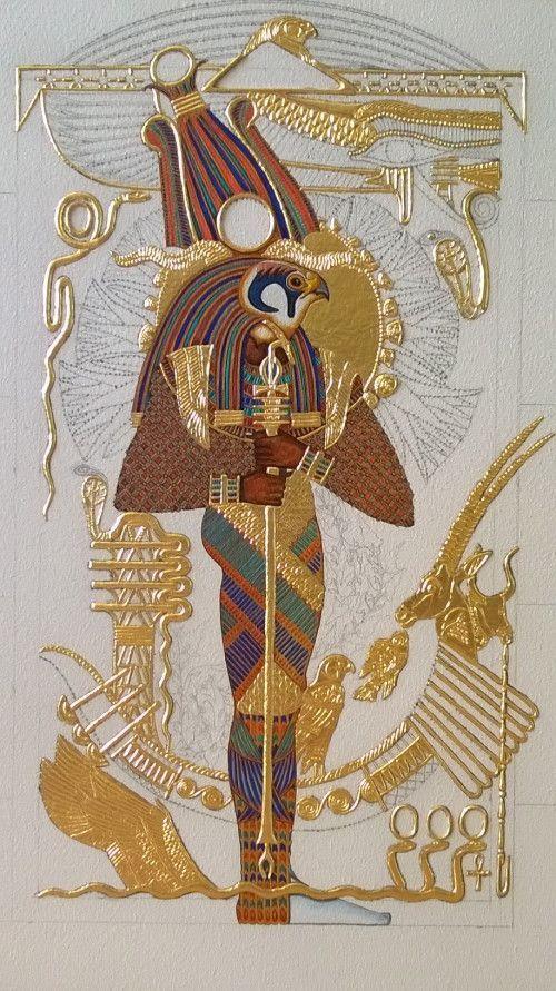 Sequer, deus-falcão da necrópole de Mênfis. (Fonte: Pinterest/Reprodução)