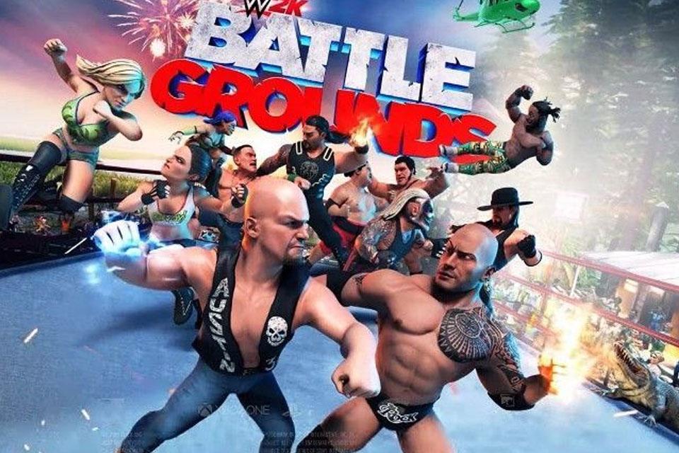 WWE 2k Battlegrounds toma nocaute DELE MESMO