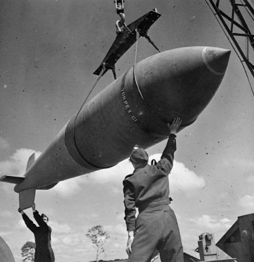 A Tallboy no período de guerra.