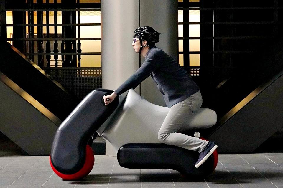 Conheça a Poimo, uma bicicleta elétrica inflável e modular