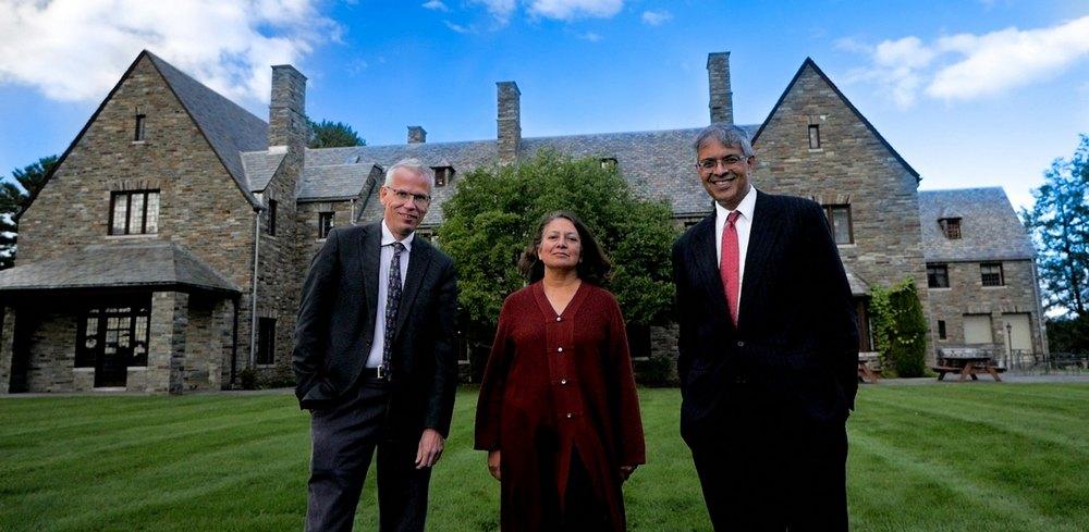The three signatories, epidemiologists Martin Kulldorff, Sunetra Gupta and Jay Bhattacharya.