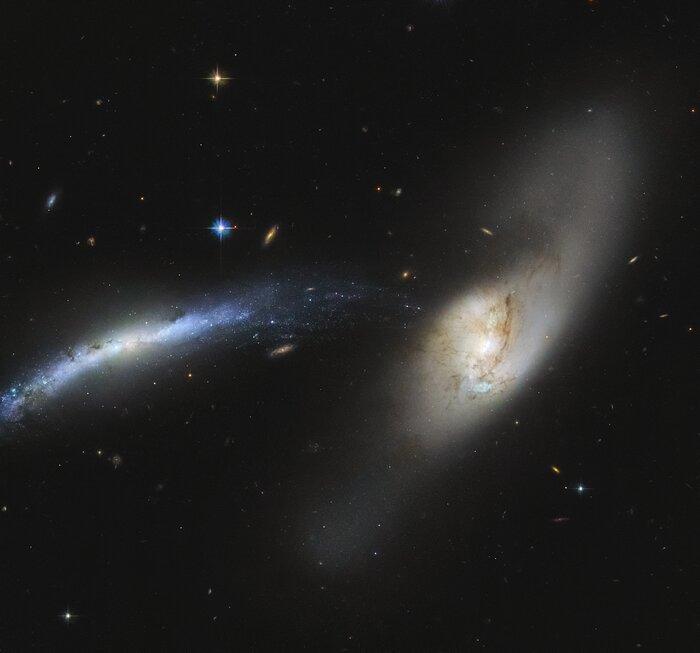 Imagem capturada pelo Telescópio Hubble. (Fonte: ESA/Hubble & NASA, SDSS, J. Dalcanton / Divulgação)