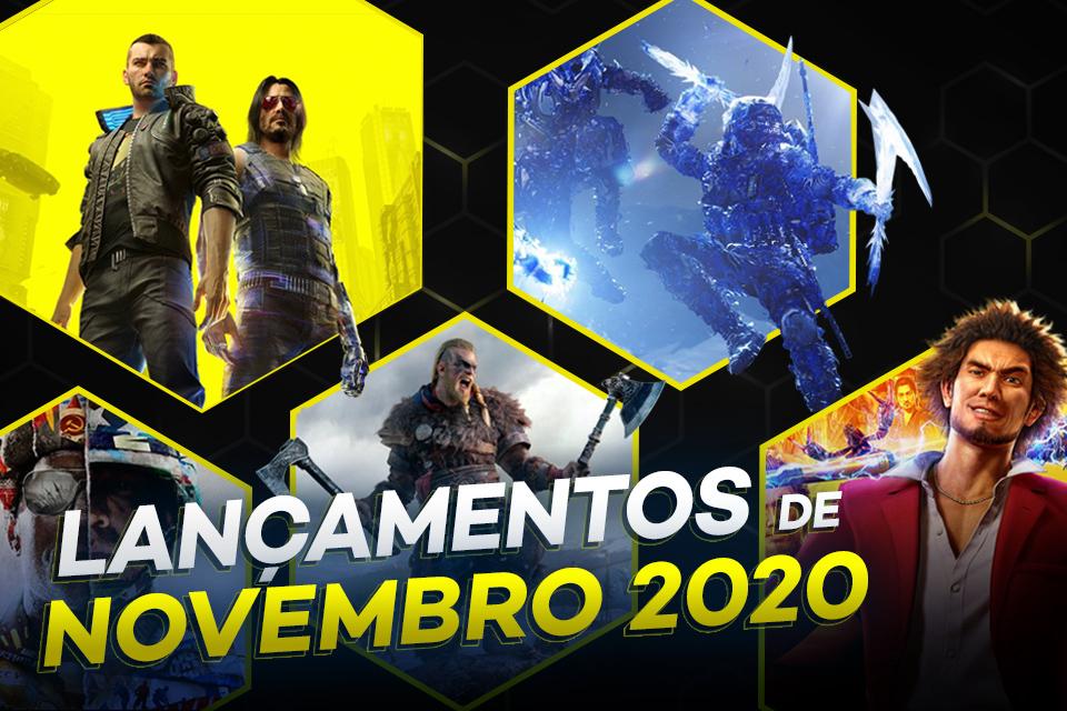 Os principais lançamentos de novembro 2020