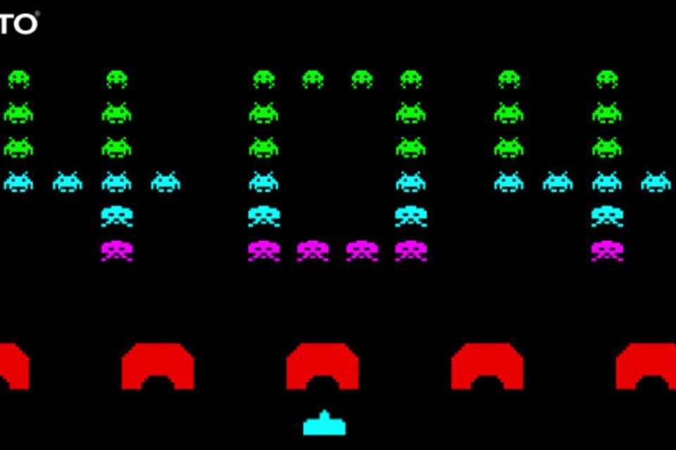 Space Invaders: jogue o game em página de erro no site da Taito