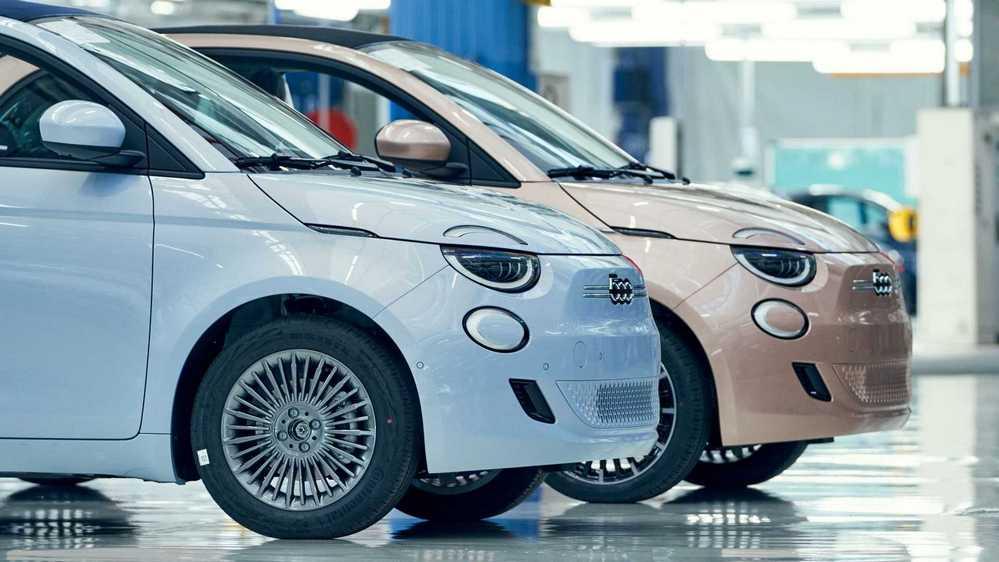 O New 500, na fábrica da Fiat em Torino.
