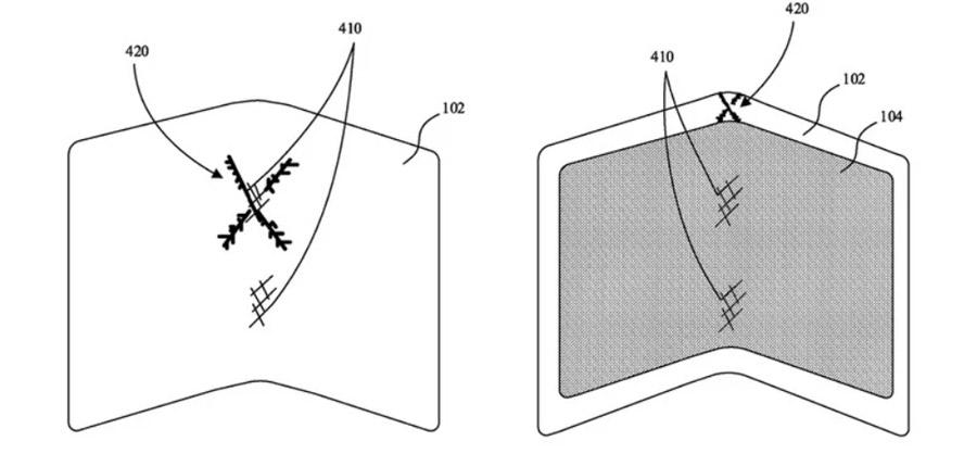 A patente da Apple mostra uma tecnologia para melhorar a durabilidade de smartphones dobráveis