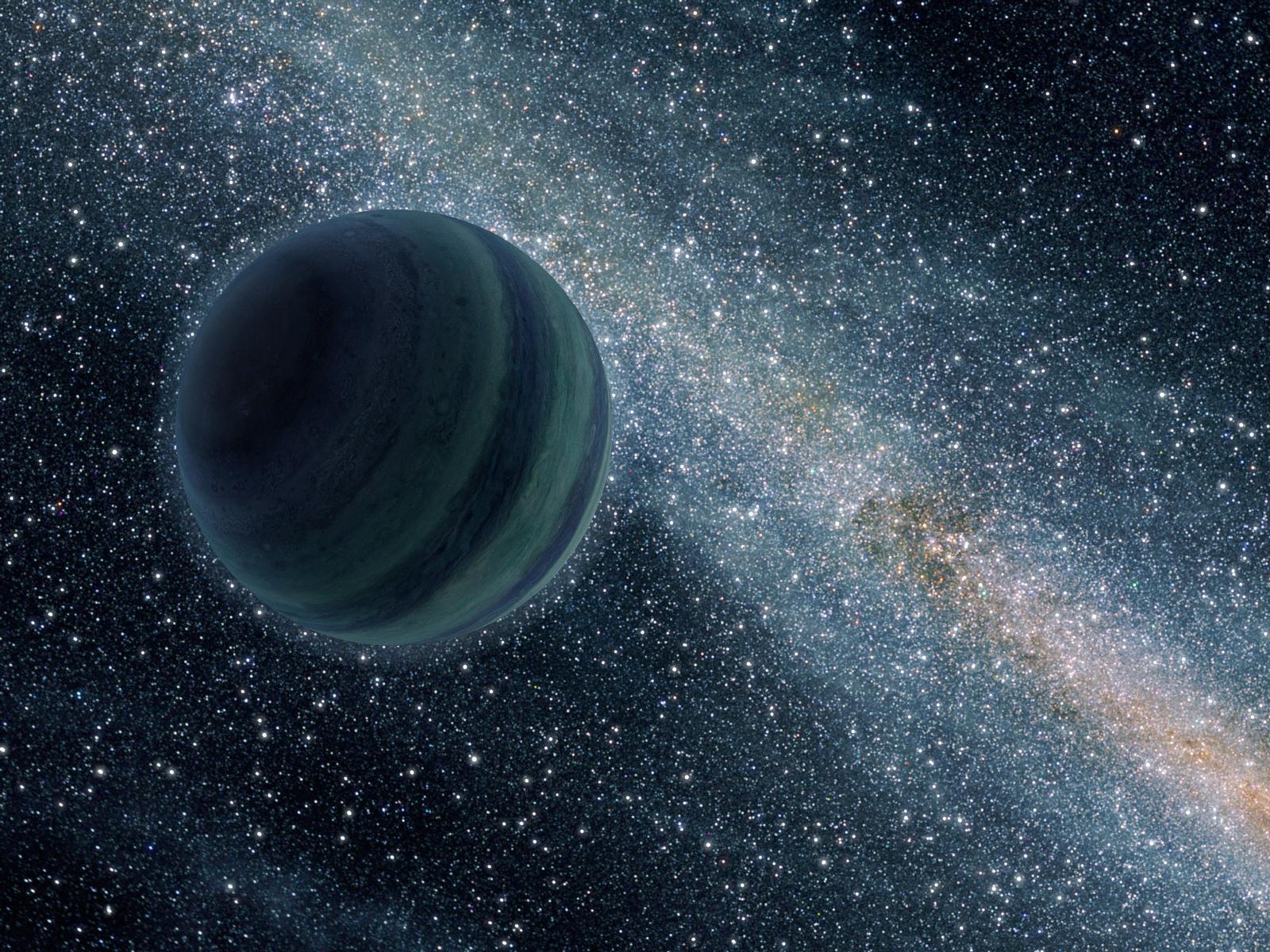 """Planeta """"desgarrado"""" foi visto passeando pela Via Láctea."""