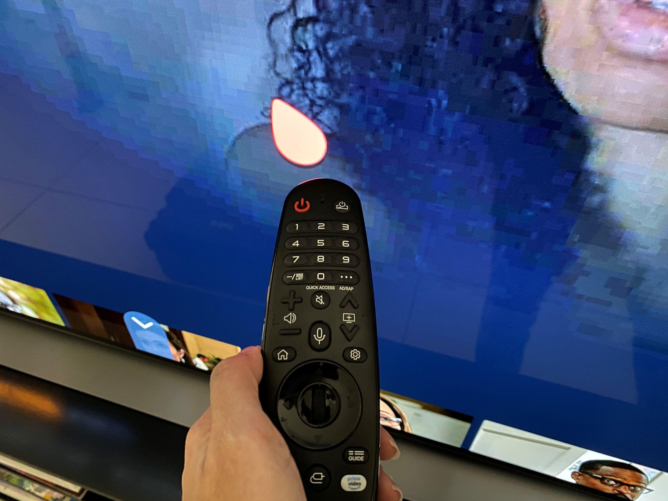 LG 55CX TV control