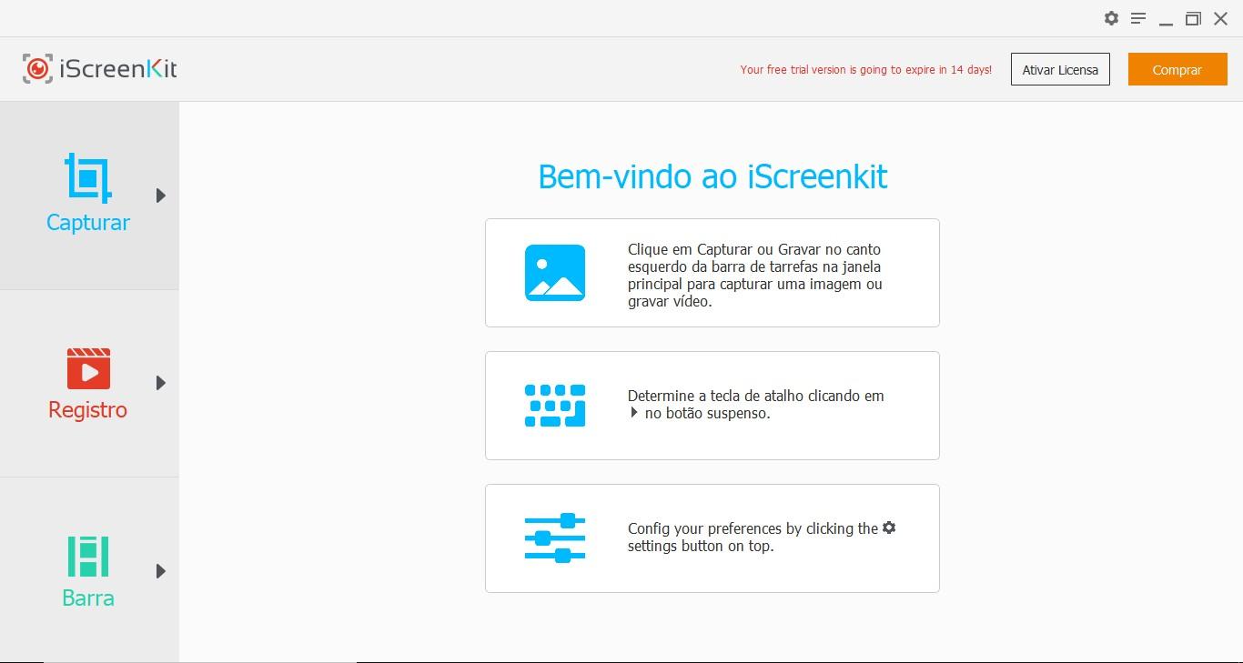 Usamos a própria ferramenta do iScreenKit para as capturas dessa análise