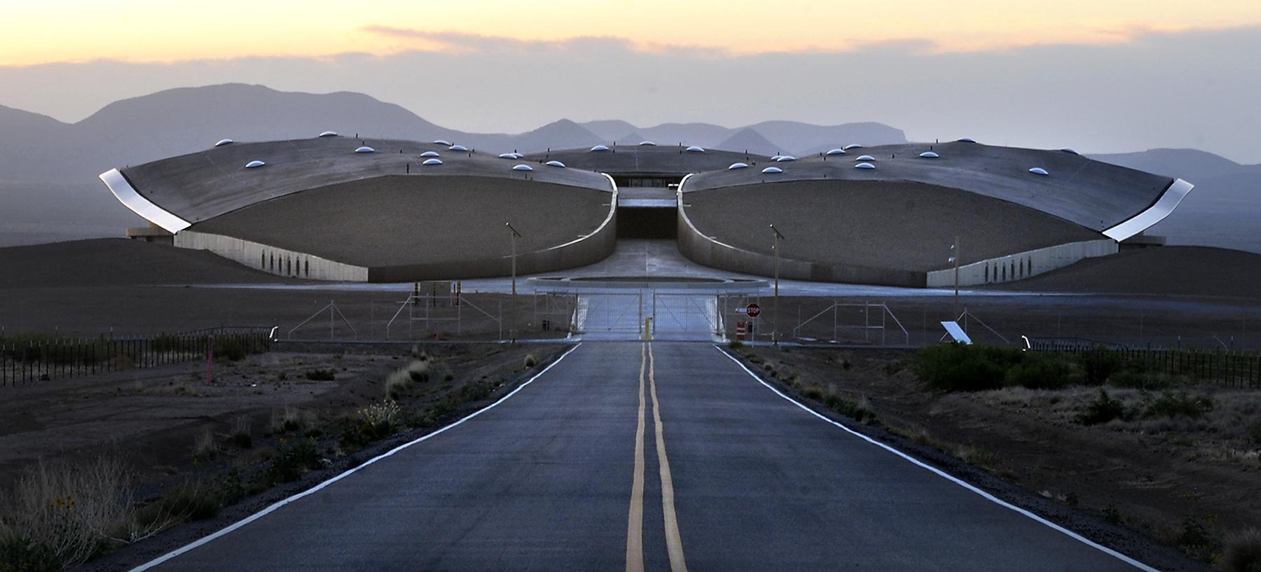 Espaçoporto da Virgin Galactic no Novo México (Fonte: Albuquerque Journal/Reprodução)
