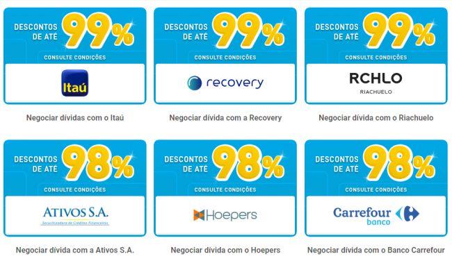 Mais de 50 empresas estão participando da ação especial, oferecendo até 99% de desconto nas dívidas.