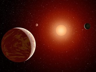 Planets orbiting a red dwarf (Source: NASA / Reproduction)