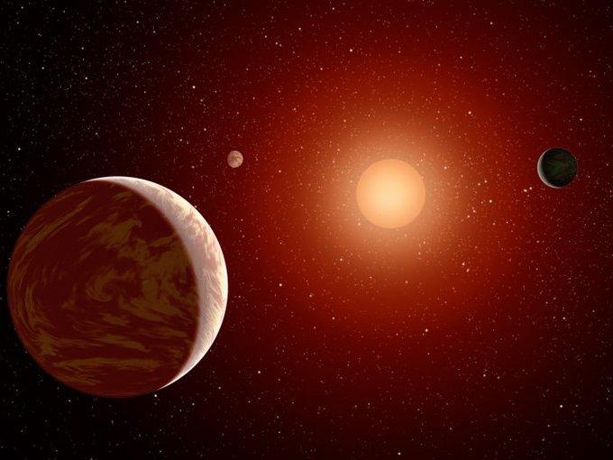 Planetas orbitando uma anã vermelha (Fonte: NASA / Reprodução)