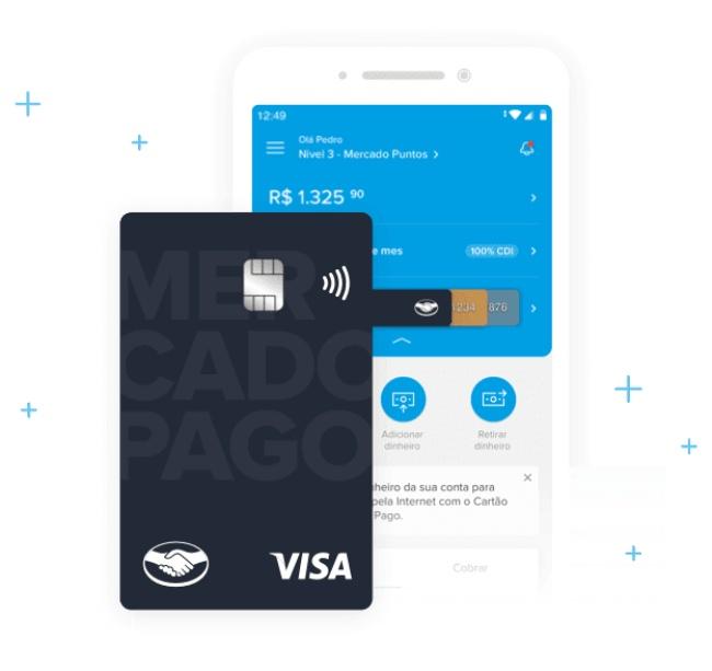 O novo cartão Mercado Pago tem bandeira Visa.