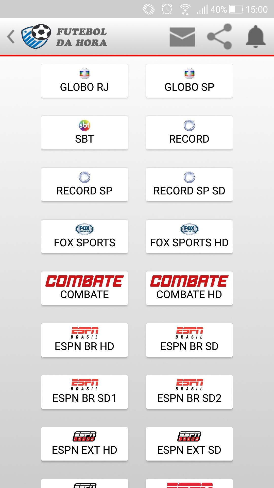 canais de tv que passam jogos de futebol