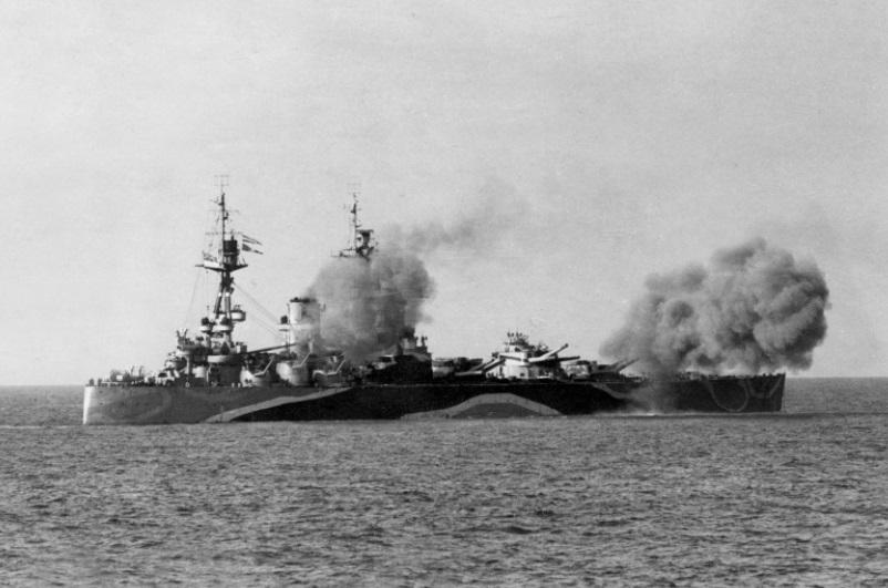 O Bismarck, uma das glórias do exército de Hitler.
