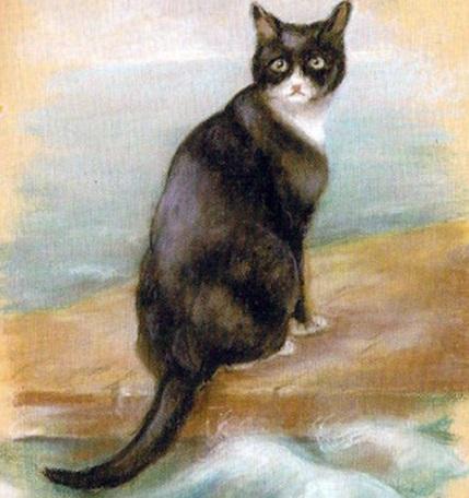 Uma suposta pintura pertencente ao animal.