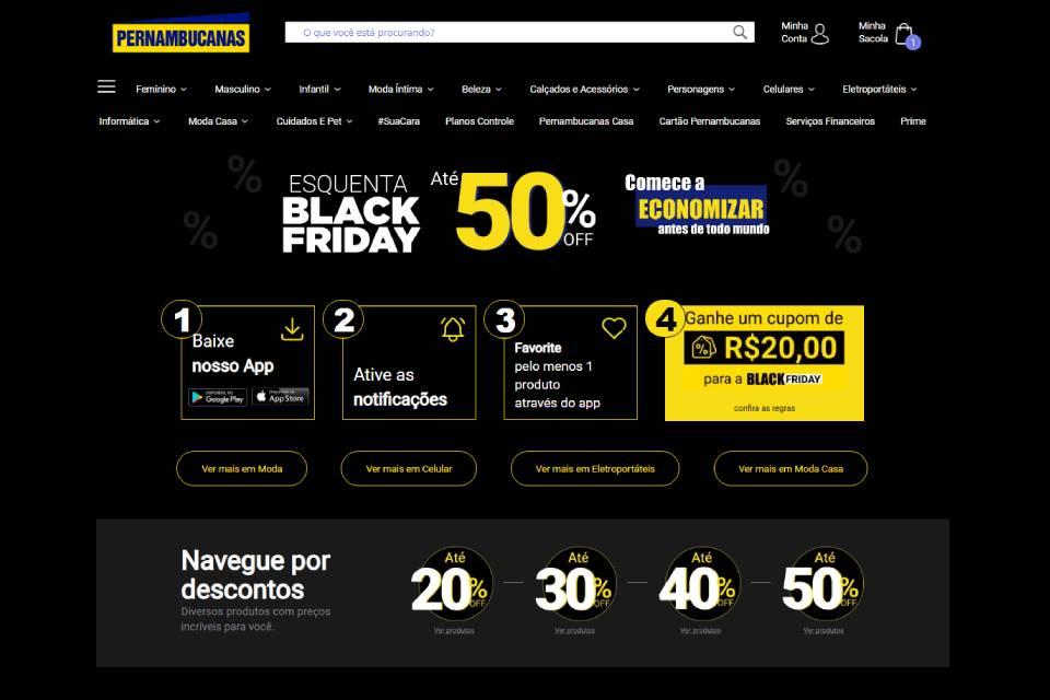 Esquenta Black Friday da Pernambucanas oferece descontos de até 70%